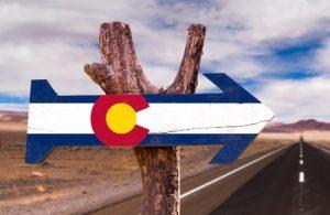 Sign for Colorado